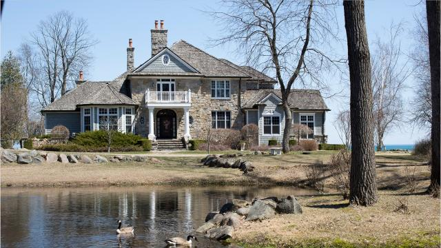 Neighbors of this stone and cedar house on Lake Huron still call it the Carhartt Estate, after the Michigan maker of very tough work clothes.