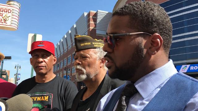 Members of the National Action Network Michigan Chapter call out the Detroit Lions to make a stance on the NFL's controversial policy regarding the national anthem in Detroit. The organization is threatening future protests.