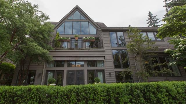 It's a blend of a 90-year-old Birmingham house with a contemporary addition that took it from about 2,700 square feet to 5,700.