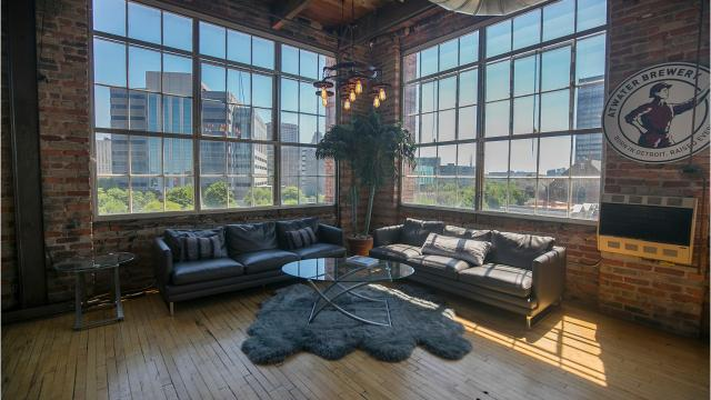 It's in Corktown. It's 6,000 square feet. What's more, this loft has had a massive remodeling.