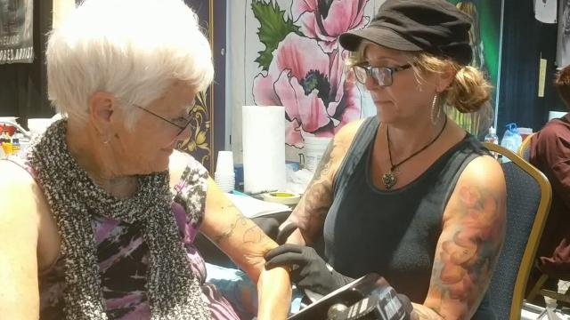The three-day expo, which concluded Sunday, brought 200 tattoo artists and thousands of visitors — some to browse and admire others' body work; others to get some fresh ink.