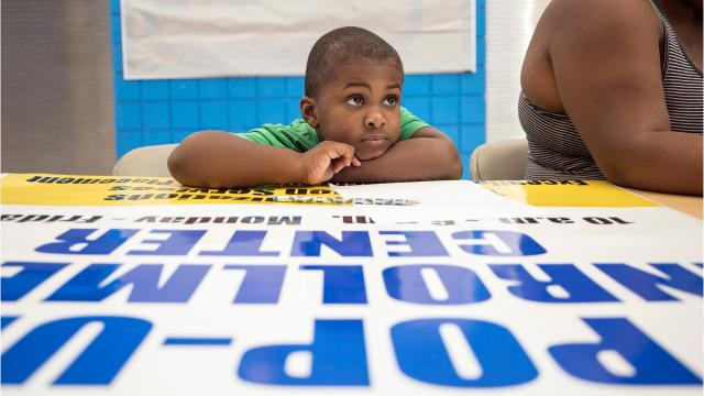 Pop-up enrollment centers in the Detroit Public Schools Community District are helping connect parents to schools.