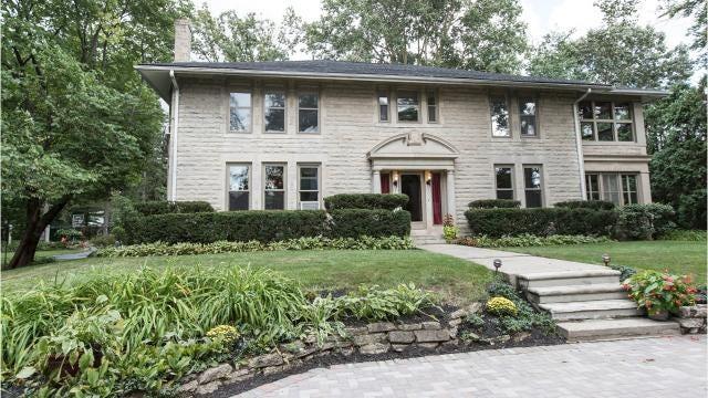 Vintage limestone house in Royal Oak was built in 1914