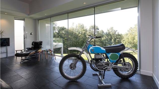 This Oxford house is clearly home to serious motorcycle racers.