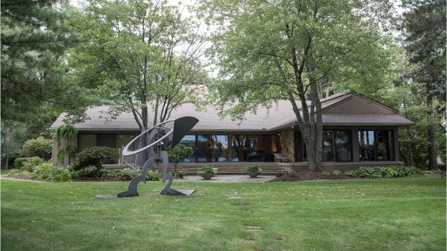 The Bloomfield Township home was built as a lakeside cottage in 1951, then expanded and remodeled twice.