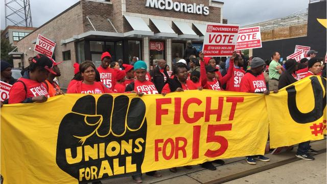 "The plight of janitors, fast-food-workers, and others in low-paying ""bad"" jobs heats up as a political issue."