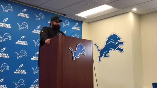 Matt Patricia tries to explain the Detroit Lions' trade of Golden Tate to the Eagles, then gets mad at reporter's posture Wednesday, Oct. 31, 2018.