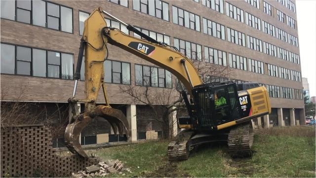 Demolition began Dec. 6 of a former Wayne State University pharmacy school building known as Shapero Hall.