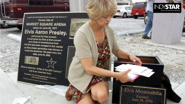 Tracking the absent Elvis Presley plaque