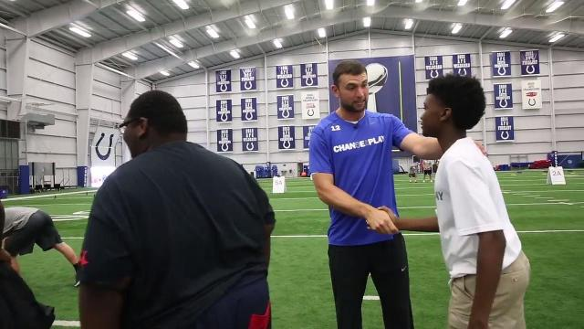 Colts' Andrew Luck shares fun at Change the Play Camp