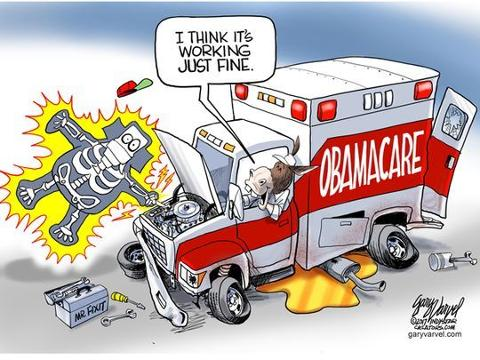 "In this time lapse video, Gary Varvel explains his method of drawing this editorial cartoon he calls ""Obamacare shock."" Using an iPad Pro and an App called, Procreate, Varvel illustrates the difficulties of health care reform Ga"