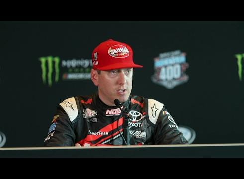 NASCAR's Kyle Busch talks about a possible 3rd Brickyard 400 win in a row. (Matt Kryger/IndyStar)