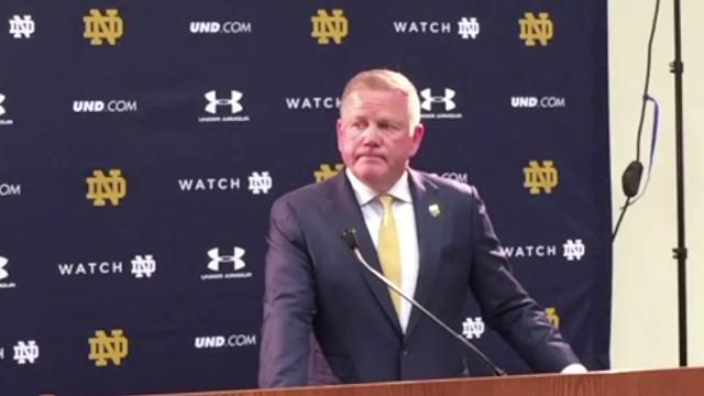 Notre Dame football coach Brian Kelly explains how his approach will differ this year