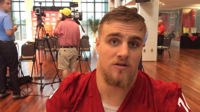 IU's Nate Hoff talks about D-line improvement in 2016