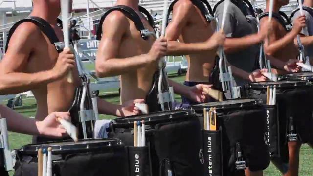 The Blue Devils work on movement, coordination, and music to get ready for the 2017 Drum Corps International Championships this week.