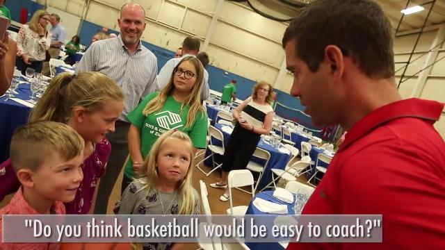 Boston Celtics coach Brad Stevens returned to his old stomping grounds for the Boys and Girls Club of Zionsville Be Great Breakfast with Brad Stevens.