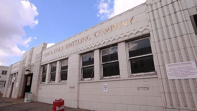 Take a pre-renovation tour of the Art Deco-era Coca-Cola Bottling Company plant on Mass Ave in Indianapolis, the future home of the multi-use Bottleworks district. The district will offer places to work, live, eat and entertainment. (August 2017)