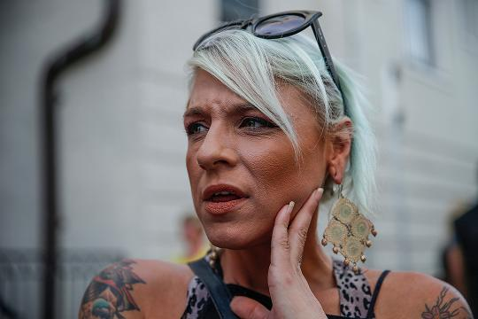 Suzanne Hall, a bar manager who works in Charlottesville, was observing the counter protest to the 'Unite the Right' rally Charlottesville on Saturday. She witnessed the car plow into the crowd that was gathered on 4th and Water Streets.