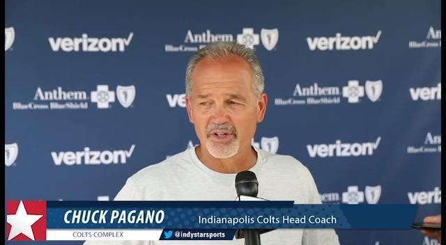 Colts coach Chuck Pagano discusses T.J. Green and JoJo Natson