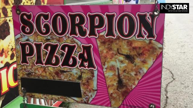 Would you eat this insect pizza at the Indiana State Fair?