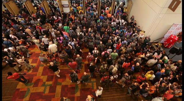 Opening of the 50th anniversary of Gen Con, a giant gaming and lifestyle convention in the Indiana Convention Center, Thursday, August 17, 2017.
