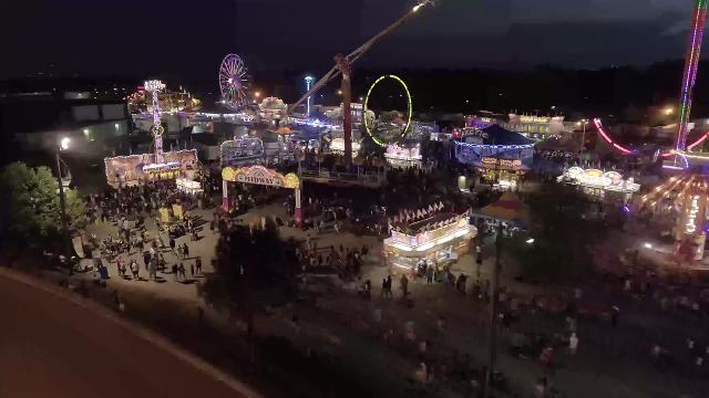 Check out how the fair's midway lights up from above.