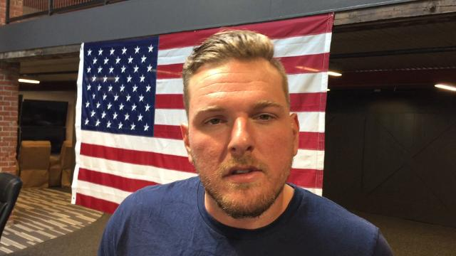 Former Indianapolis Colts punter Pat McAfee discusses his role in encouraging young people to text 911 in case of emergency.