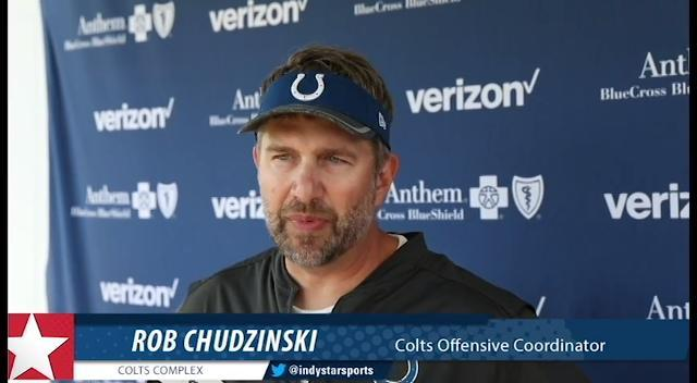 Colts offensive coordinator Rob Chudzinski talks players coming back from injury