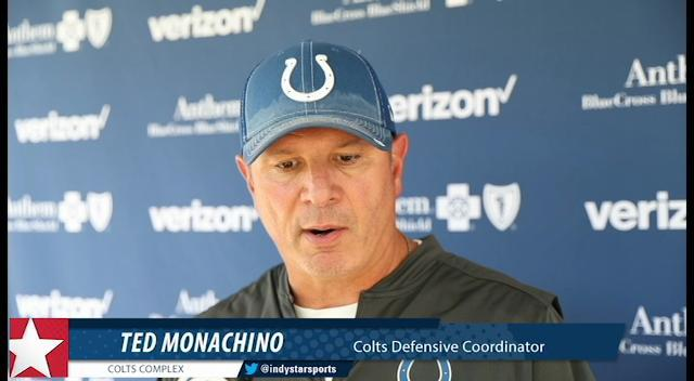 Colts defensive coordinator Ted Monachino discusses pass rush and secondary