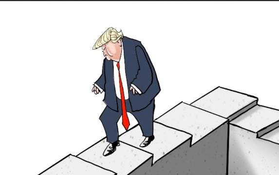 The visual illusion of the Penrose steps, popularized in the movie 'Inception' is an image cartoonists have used many times to depict futility.  In this time lapse Gary Varvel shows how he created them.