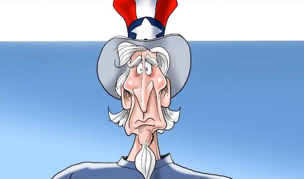 This 58-second time lapse video shows how Gary Varvel draws Uncle Sam responding to the Hurricane Harvey victims in Southeast Texas. There is an animation near the end of the video.