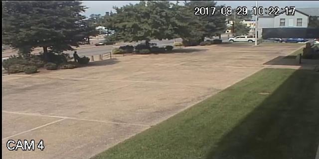 Surveillance cam footage of federal building shooting death