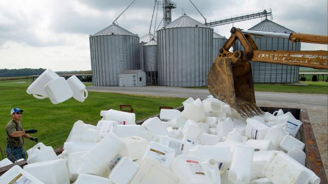 Annual chemical container recycling