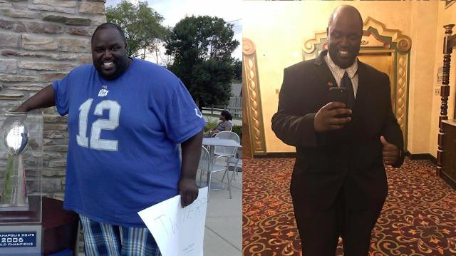 Colts fan Brock Easley loses more than 400 pounds with hard work and encouragement from Colts Nation, Tuesday, August 22, 2017.