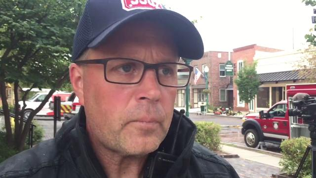 Brian Miller, with Zionsville Fire Dept., talks about the morning fire in downtown Zionsville.