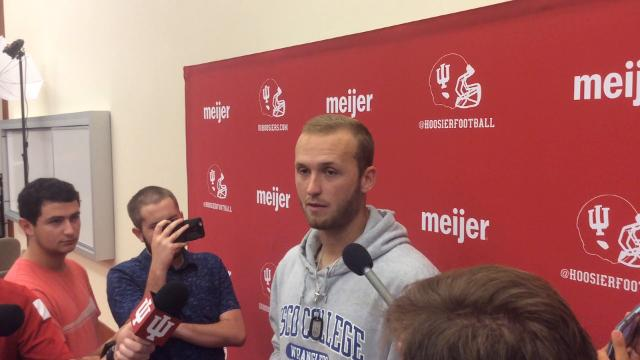 Lagow talks to reporters