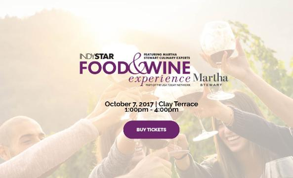 The 2017 IndyStar Food & Wine Experience will be the premier food and wine event in the Indianapolis area. It takes place Oct. 7 at Clay Terrace in Carmel.