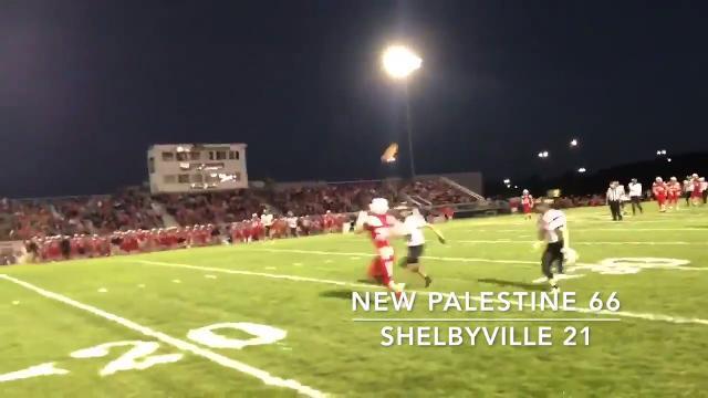 Friday Nigh Highlights: New Palestine 66, Shelbyville 21