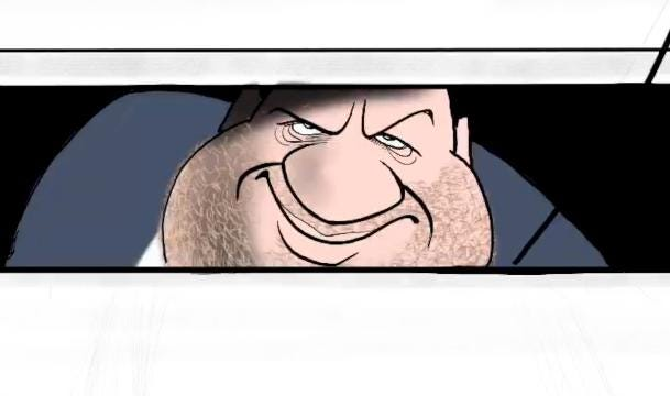 """In this time lapse video Gary Varvel shows how he recreates the """"It"""" movie poster using Harvey Weinstein"""