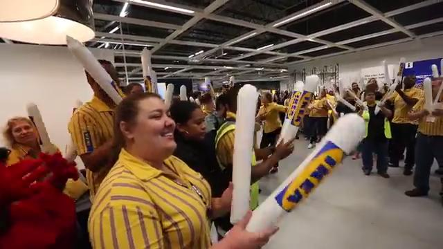 A fun morning at Ikea Fishers grand opening, Oct. 11, 2017.