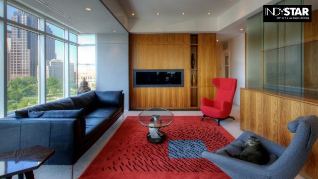 Seventh-floor condominium offers luxury living in the heart of Downtown Indy.