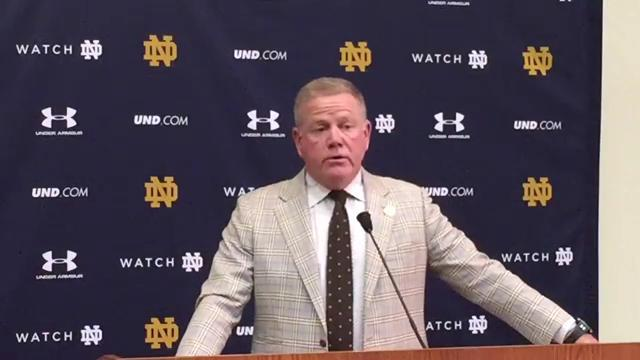 Brian Kelly gives update on QB Brandon Wimbush