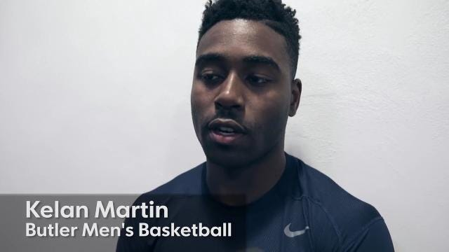 Kelan Martin, one of the leaders for the Butler Bulldogs men's basketball team, talks about the upcoming campaign, Indianapolis, Thursday, Oct. 19, 2017.