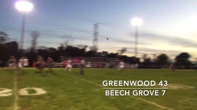 Greenwood opened IHSAA sectionals with a 43-7 win over Beech Grove.