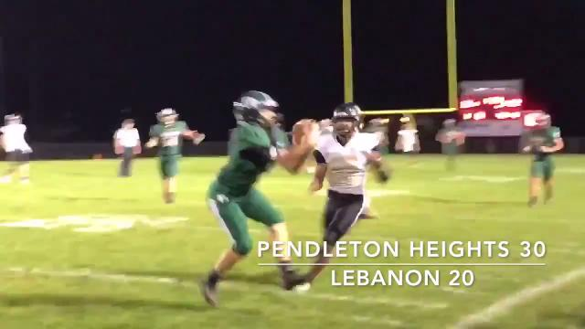 Pendleton Heights opened IHSAA sectional play with a 30-22 win over Lebanon.