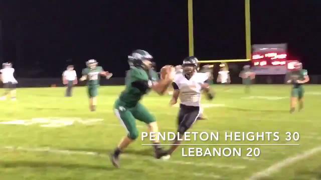 Friday Night Highlights: Pendleton Heights 30, Lebanon 22