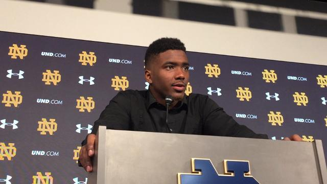 Notre Dame quarterback Brandon Wimbush hurt the Trojans in the air and on the ground.