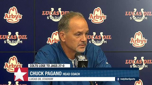 Pagano says Colts are 'not going to do much giving up 10 sacks'