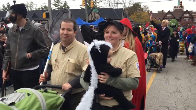The Historic Irvington Halloween Festival parade: Lions and Trump ...
