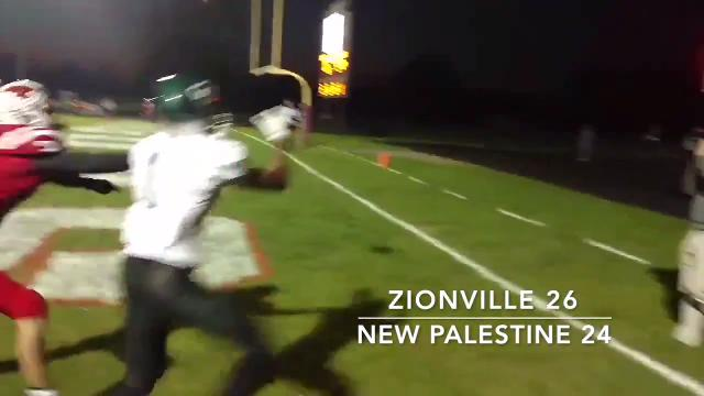 Friday Night Highlights: Zionsville 26, New Palestine 24